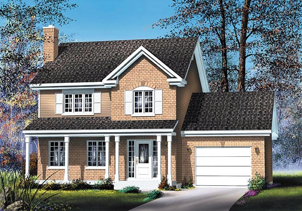 Country House Plan 49702 with 3 Beds, 3 Baths, 1 Car Garage Elevation