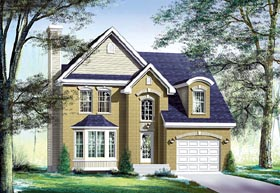Traditional House Plan 49704 with 3 Beds, 2 Baths, 1 Car Garage Elevation