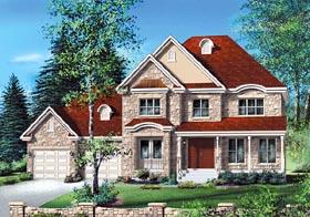 European House Plan 49706 Elevation
