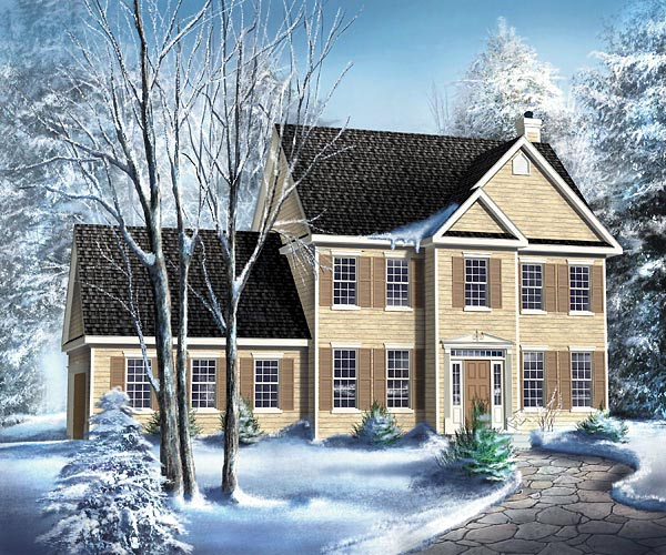 Colonial House Plan 49707 Elevation