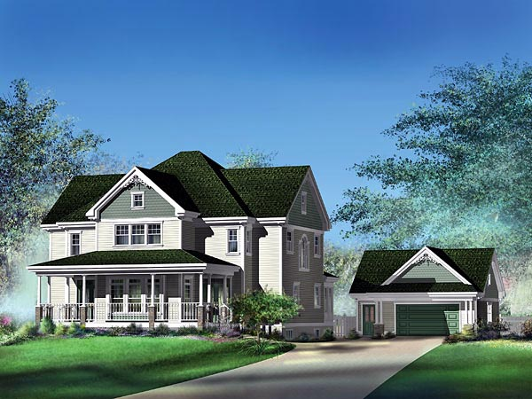 Country House Plan 49711 Elevation