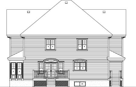 Country House Plan 49711 Rear Elevation
