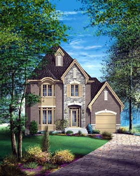 Victorian House Plan 49713 with 3 Beds, 2 Baths, 1 Car Garage Elevation