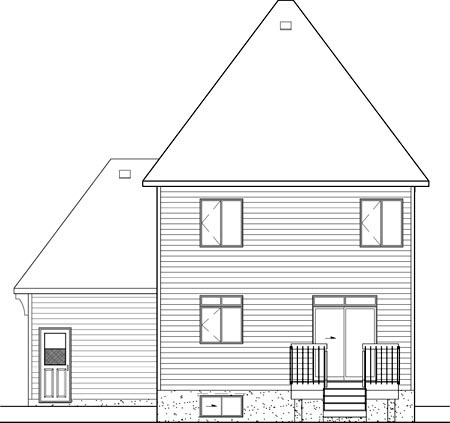 Victorian Rear Elevation of Plan 49713