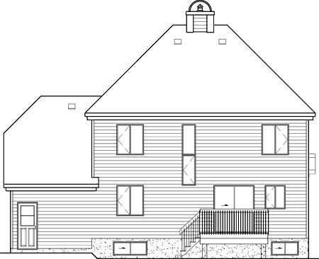 Victorian House Plan 49716 Rear Elevation