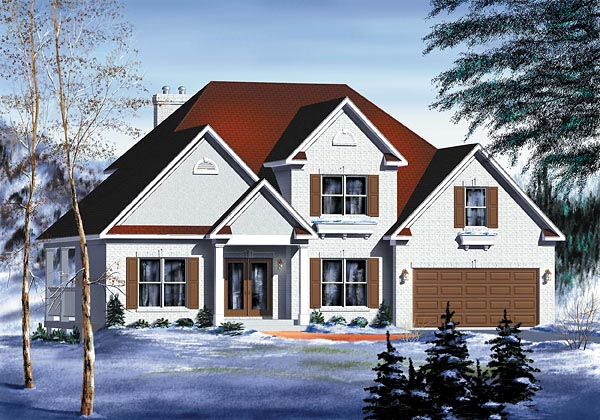 European House Plan 49717 Elevation