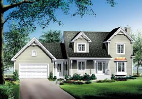 Country House Plan 49718 Elevation