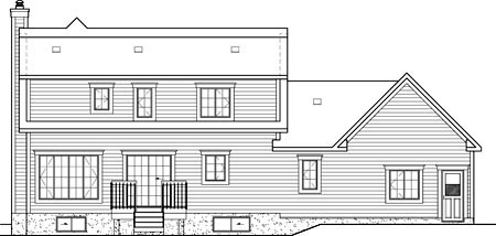 Country House Plan 49718 Rear Elevation