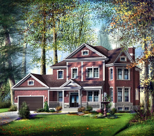 Traditional House Plan 49722 Elevation