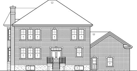 Traditional House Plan 49722 Rear Elevation