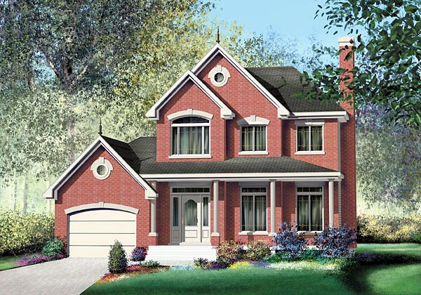 Farmhouse Victorian House Plan 49723 Elevation