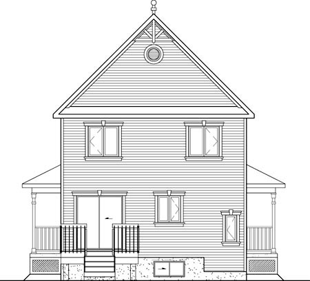 Southern House Plan 49724 Rear Elevation