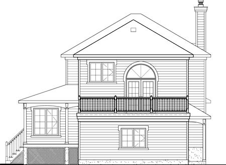 Country House Plan 49725 Rear Elevation