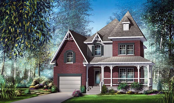 Victorian House Plan 49726 Elevation