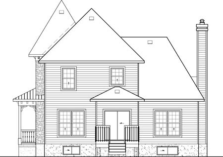 Victorian House Plan 49726 Rear Elevation