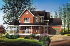 Victorian House Plan 49728 Elevation