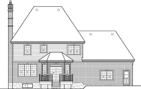 Victorian House Plan 49729 Rear Elevation