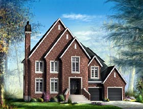 House Plan 49732 | Tudor Style Plan with 3731 Sq Ft, 4 Bedrooms, 3 Bathrooms, 2 Car Garage Elevation