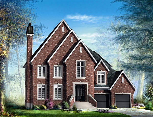 Tudor House Plan 49732 Elevation