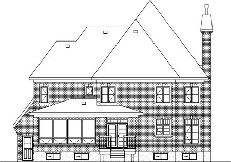 Tudor House Plan 49732 Rear Elevation