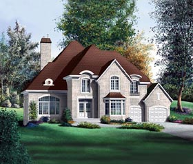 Victorian House Plan 49734 with 4 Beds, 3 Baths, 2 Car Garage Elevation