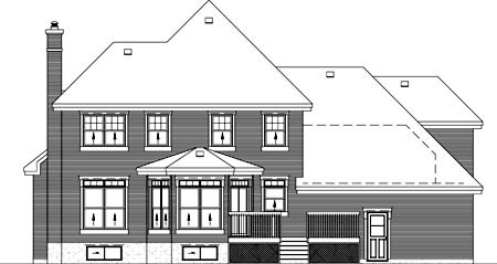 Traditional House Plan 49736 Rear Elevation