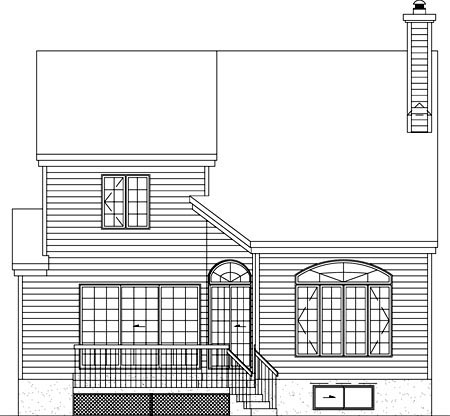 Traditional House Plan 49737 Rear Elevation
