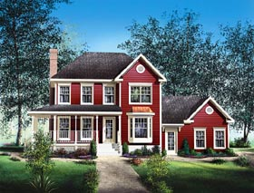 Southern House Plan 49738 with 3 Beds, 3 Baths, 2 Car Garage Elevation