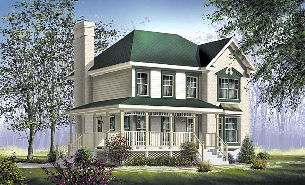 Country House Plan 49739 Elevation