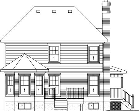 Country House Plan 49739 Rear Elevation