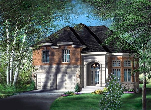 European House Plan 49741 Elevation