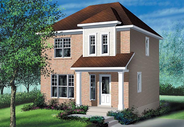 Colonial House Plan 49742 Elevation