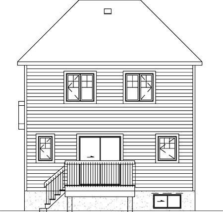 Colonial House Plan 49742 Rear Elevation