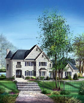 Victorian House Plan 49743 Elevation