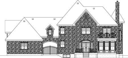 Victorian House Plan 49743 Rear Elevation