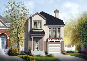 Colonial House Plan 49746 Elevation