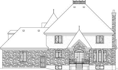Victorian House Plan 49747 Rear Elevation