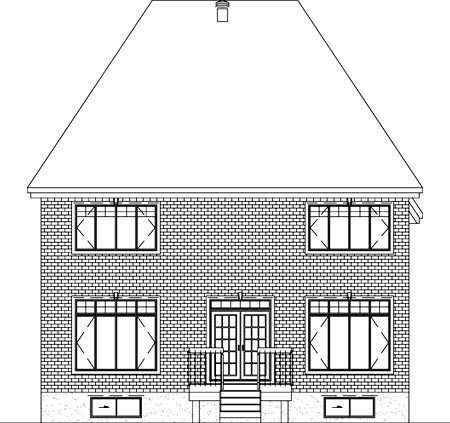 Victorian House Plan 49748 Rear Elevation