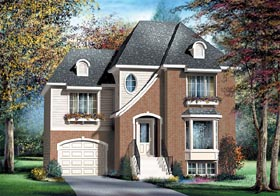 Tudor House Plan 49749 Elevation