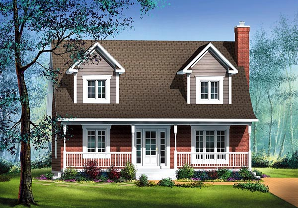 Cape Cod House Plan 49753 Elevation