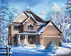 European House Plan 49754 Elevation