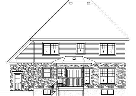 European House Plan 49754 Rear Elevation