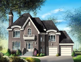 European House Plan 49755 Elevation
