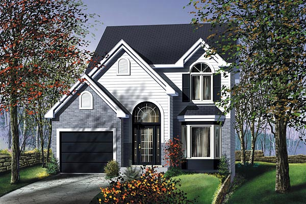 European House Plan 49758 Elevation