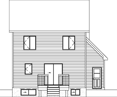 European House Plan 49758 Rear Elevation