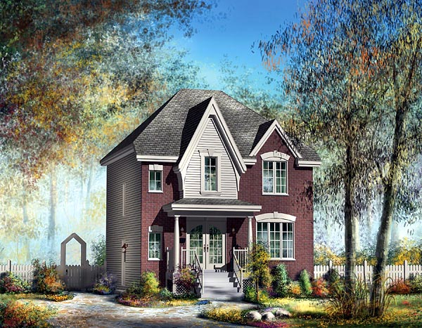 Victorian House Plan 49760 Elevation