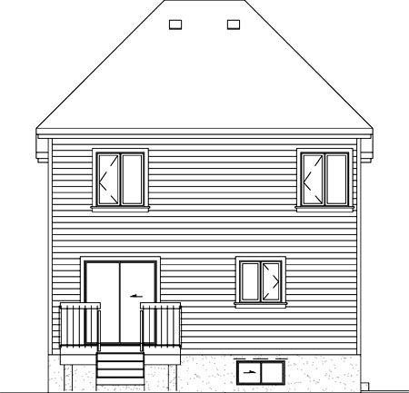 Victorian House Plan 49760 Rear Elevation