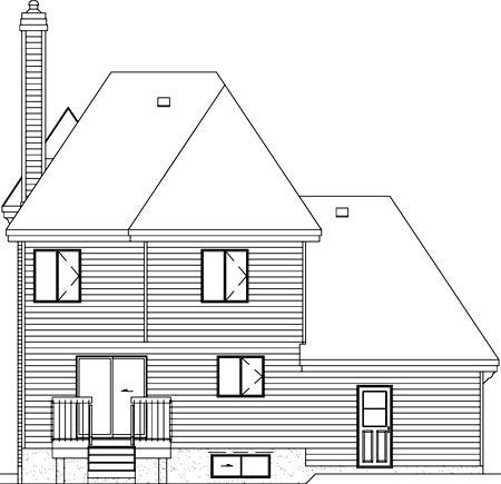Victorian House Plan 49764 Rear Elevation