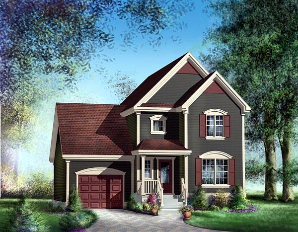 Traditional House Plan 49767 Elevation