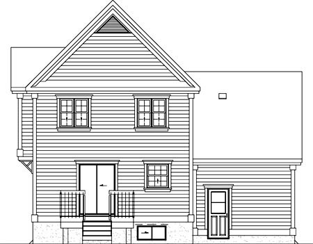 Traditional House Plan 49767 Rear Elevation